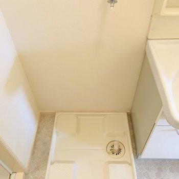 そのお隣には洗濯機置き場。