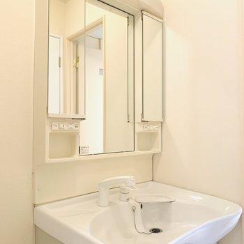 広いボウルの使いやすそうな洗面所。