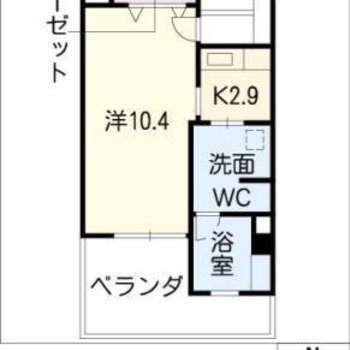 ゆったりひとり暮らしの1Kのお部屋です。