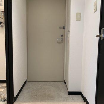 程よいスペースの玄関