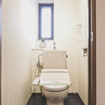 シックなホテルのようなトイレ。嬉しいウォシュレット付きです。