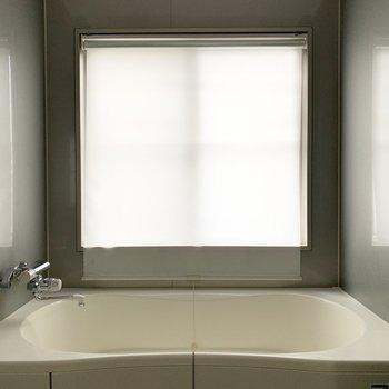 窓にはロールスクリーンが付いて、目線対策も安心◎(※写真はクリーニング前のものです)