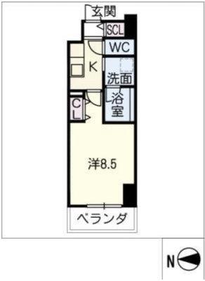 名古屋に住む。 の間取り