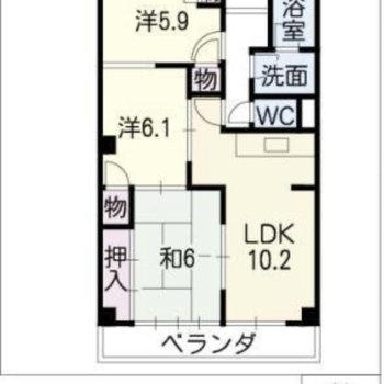 間取りは3LDK。個室の数だけ使い道は様々。
