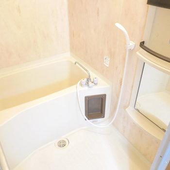 お風呂はシンプルですが、浴室乾燥機付きです。