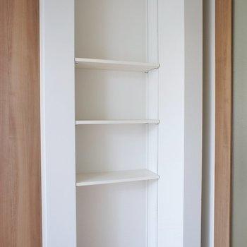 ここは本棚にしようかな。※写真は、2階の同タイプのもの