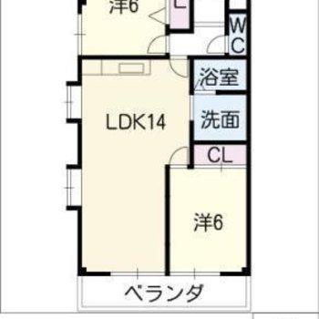 2LDKのリノベーションされたお部屋です。