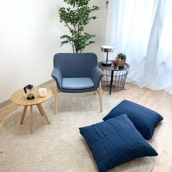 ひとり暮らしサイズのお部屋です。(※全写真の家具・雑貨はサンプルです)