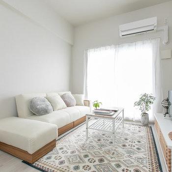 白ベースで清潔感のある家具が似合いそう。(※写真はモデルルームのものです)