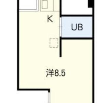 シンプルな1Kのお部屋。(※お部屋は通電前です。)