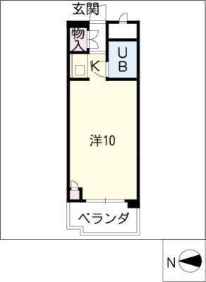 トーカングランドマンション栄 716号室 の間取り