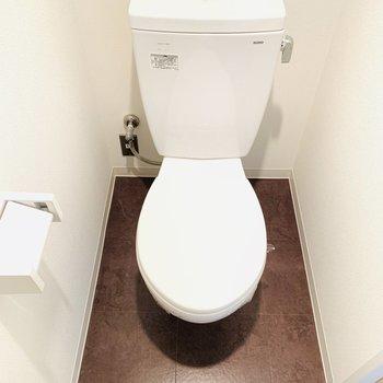 お掃除のしやすそうなトイレ。