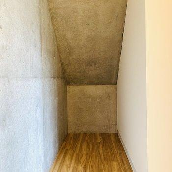 階段下の物置スペース。