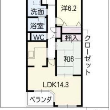 和室もある2LDK。設備も素敵ですよ◎