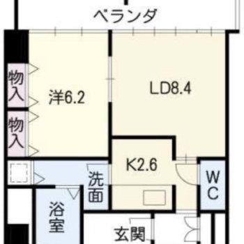 1LDK のお部屋です。