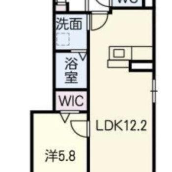 1LDKのお部屋。