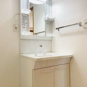 入ってすぐ右側に洗面所。