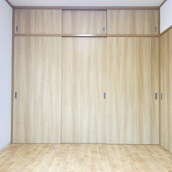 収納の扉と床のナチュラルっぽい統一感が落ち着きそうです。