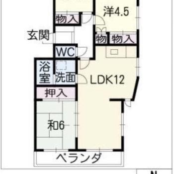 3LDKのお部屋です。