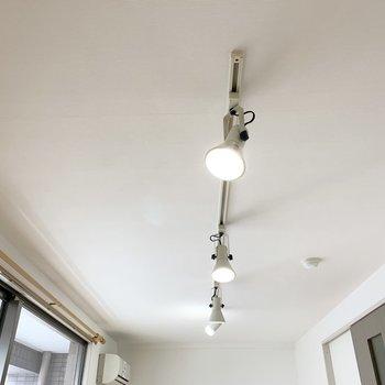 天井のライティングレールとスポットライトが素敵です◎