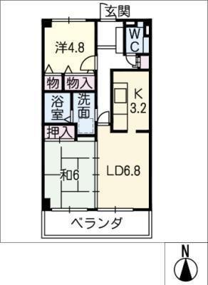 ナビシティ応仁町 303号室 の間取り