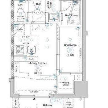 2人入居も可能な1DKのお部屋です。