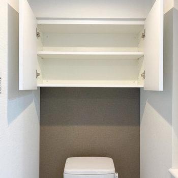 トイレットペーパーや掃除道具などはこちらへ!※写真は5階の同間取り別部屋のものです