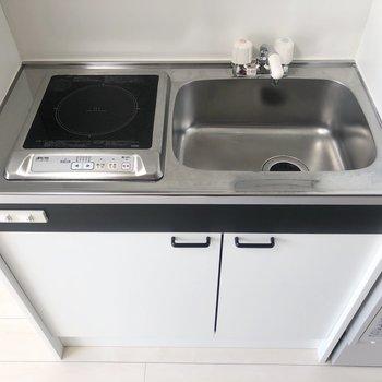 IHでお掃除もしやすいコンパクトなキッチン。※写真は前回募集時のものです