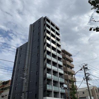 11階建ての立派な建物。