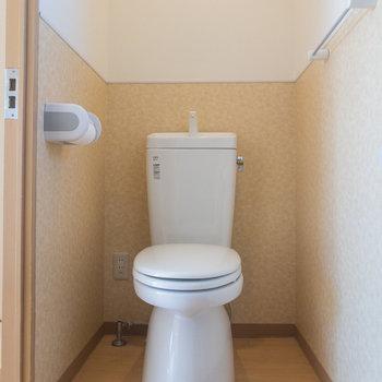 トイレは広く、ゆったりできそう