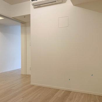 奥側から見ると。廊下とは引き戸で閉められます。※写真は12階の同間取り別部屋のものです
