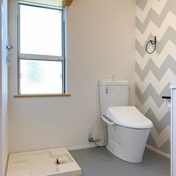 洗濯機置き場とトイレもセットになっています。