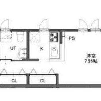 カウンターキッチンがある新築デザイナーズのお部屋。