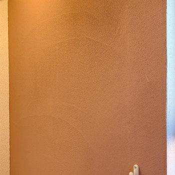 【ディテール】珪藻土を使用した塗装壁に。