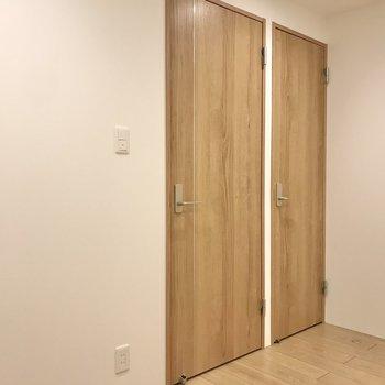 【B1・納戸】右側のドアが収納。