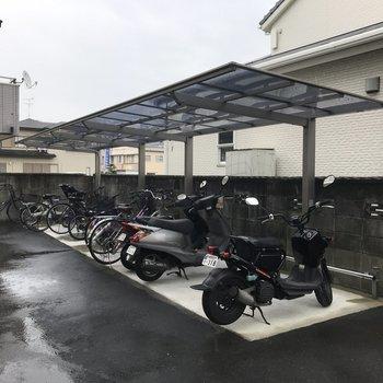 駐輪場もしっかりありました。