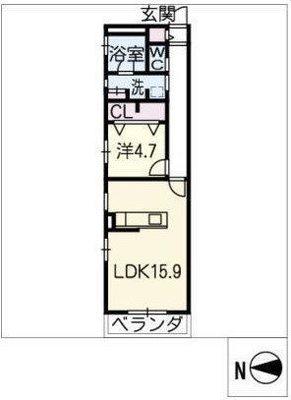 覚王山アパートメントの間取り