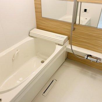 広めの浴槽でお子さんと一緒に入っても十分な広さ。
