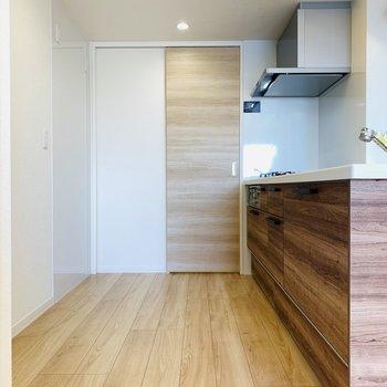 開放的なキッチンスペース。