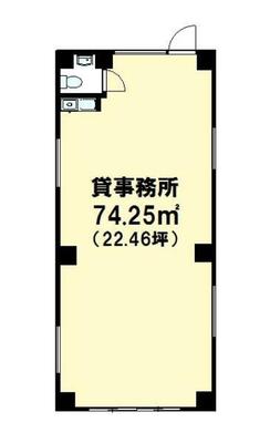 新大塚 22.46坪 オフィス の間取り