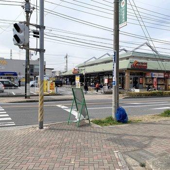 駅から5分ほどの所にスーパーなどたくさんあります。
