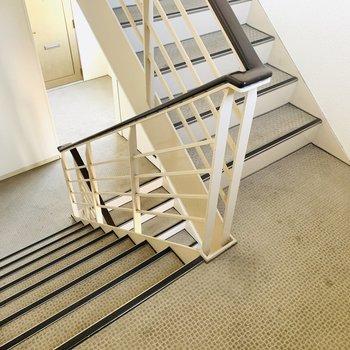 広めの階段で引っ越しも安心。
