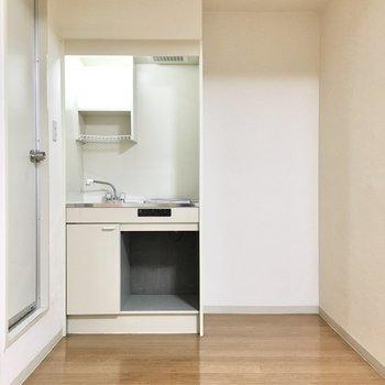 冷蔵庫スペースはしっかりあります。