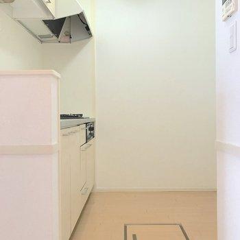 【LDK】キッチン周りも広く料理がしやすい環境。