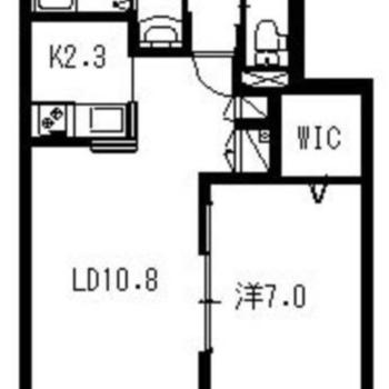 2LDKタイプで2人でも十分住める広さのお部屋です。