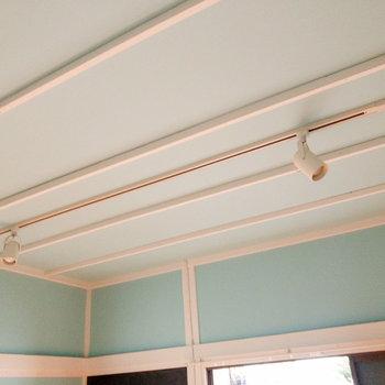 天井にはスポットライトがあります。