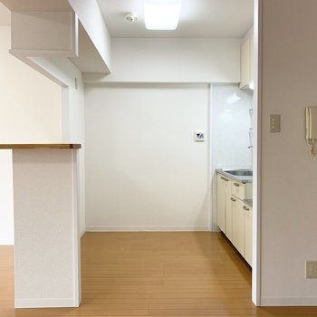 スペースにゆとりがあるので、バックのカウンターに合わせて背面収納を作りたいですね◎