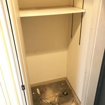 洗濯パンはとびらで目隠しできます。