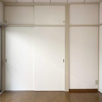 【南西側洋室】収納が豊富です。