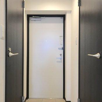 玄関との段差が少ないので準備もしやすいですね。